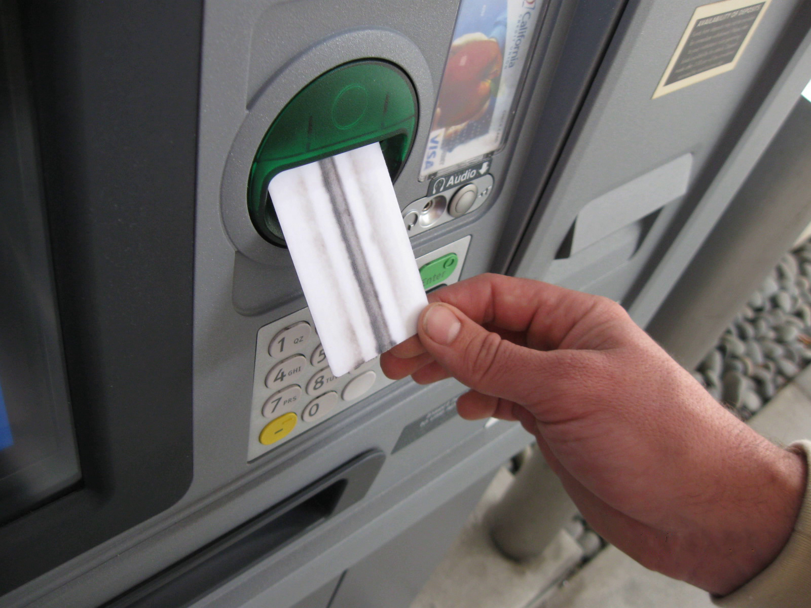 ATM Cleaning Card for brochure